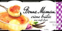 Crème Brûlée aux Œufs Frais - Produit