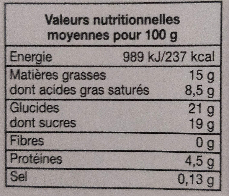 Crème brûlée aux œufs frais - Voedingswaarden - fr