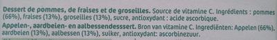 Pomme Fraise Groseille - Ingrédients - fr
