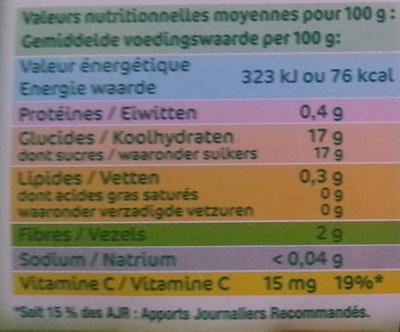 Pomme Fraise Groseille - Nutrition facts - fr