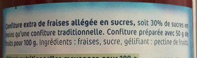 Confiture allégée fraises - Ingrédients - fr