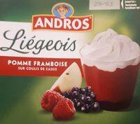 Liégeois pomme framboise sur coulis de cassis - Produit - fr