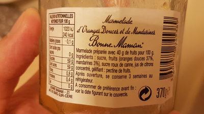 Confiture orange et mandarines - Ingrédients