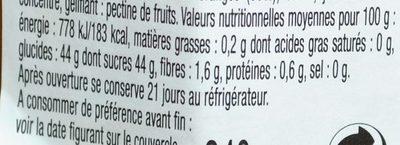 L'Orange Fruitée Intense - Valori nutrizionali - fr