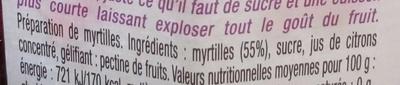 La Myrtille fruitée intense - Ingredienti - fr
