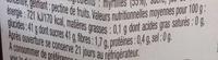 La Myrtille fruitée intense - Valori nutrizionali - fr