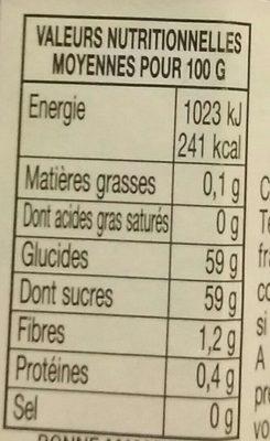 Confiture Fraises - Informations nutritionnelles - fr