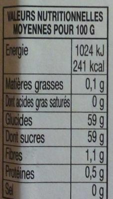 Confiture Abricots - Informazioni nutrizionali - fr
