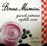 Yaourt crémeux Myrtille Cassis - Produit - fr