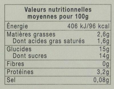 Yaourt crémeux Myrtille Cassis - Informations nutritionnelles - fr