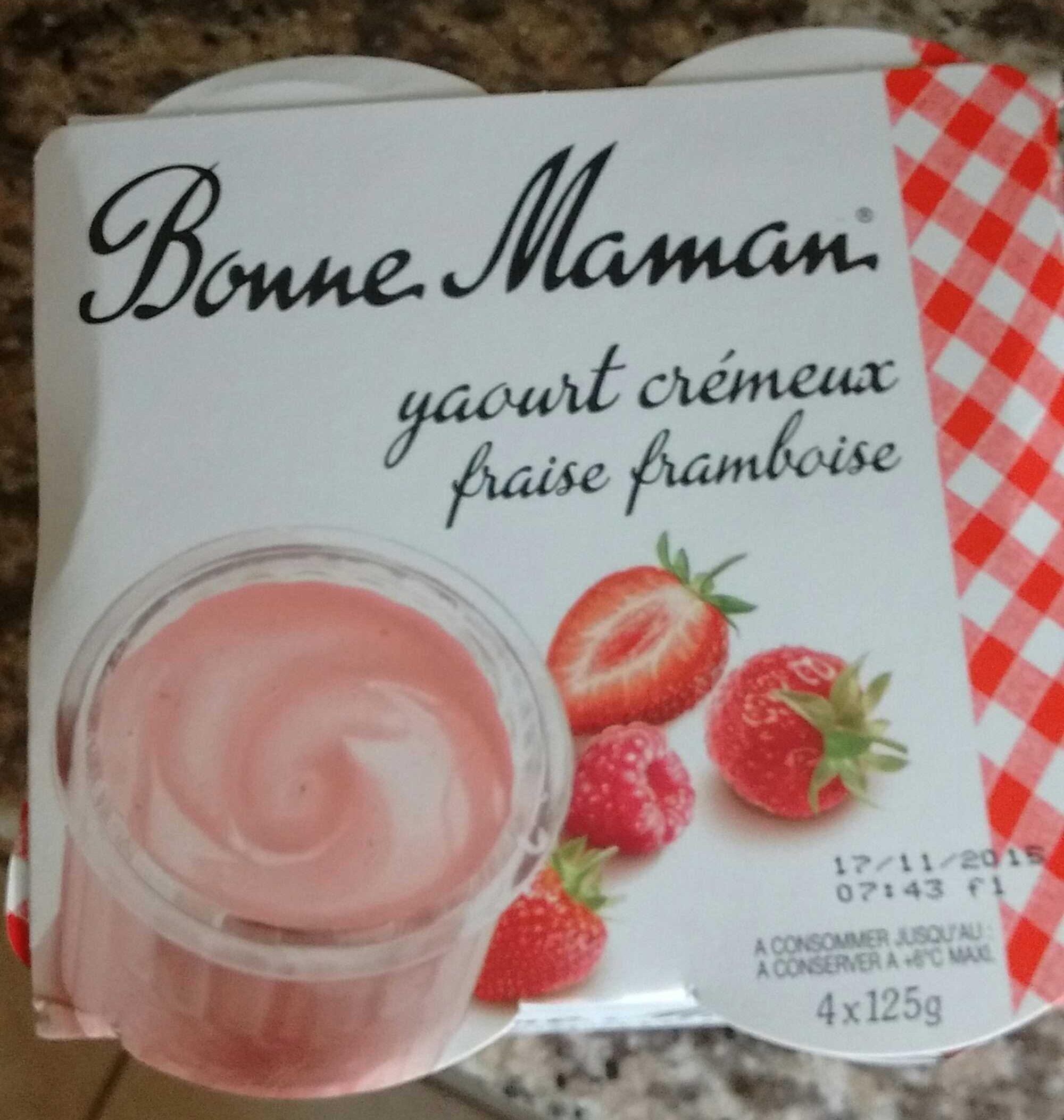 Yaourt crémeux fraise framboise - Product