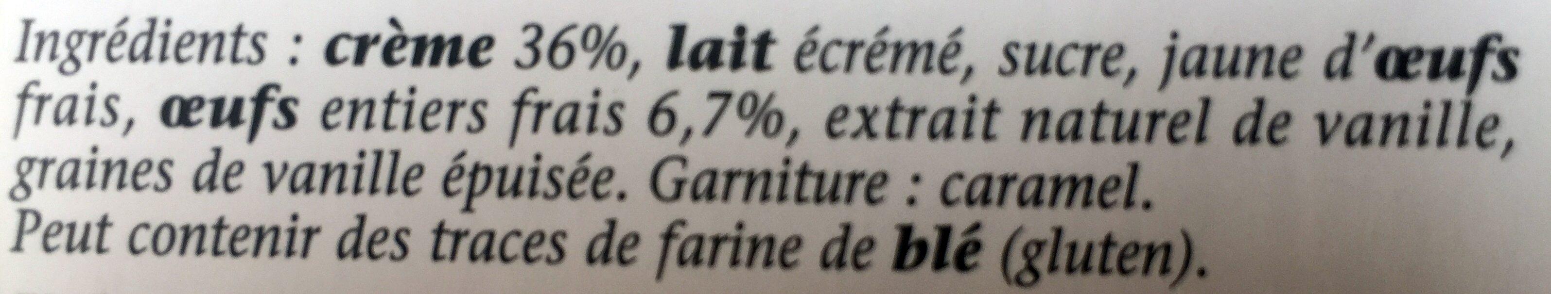 Crème brûlée aux oeufs frais - Ingrediënten - fr