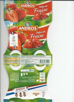 Andros  Délice de fraise - Produit - fr