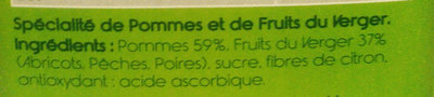 P'tit Dros Fruits du verger - Ingredients