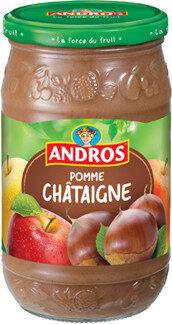 Compote pomme châtaigne - Produit - fr