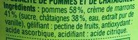 Compote pomme châtaigne - Inhaltsstoffe