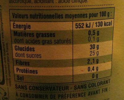 Compote pomme châtaigne - Informations nutritionnelles - fr