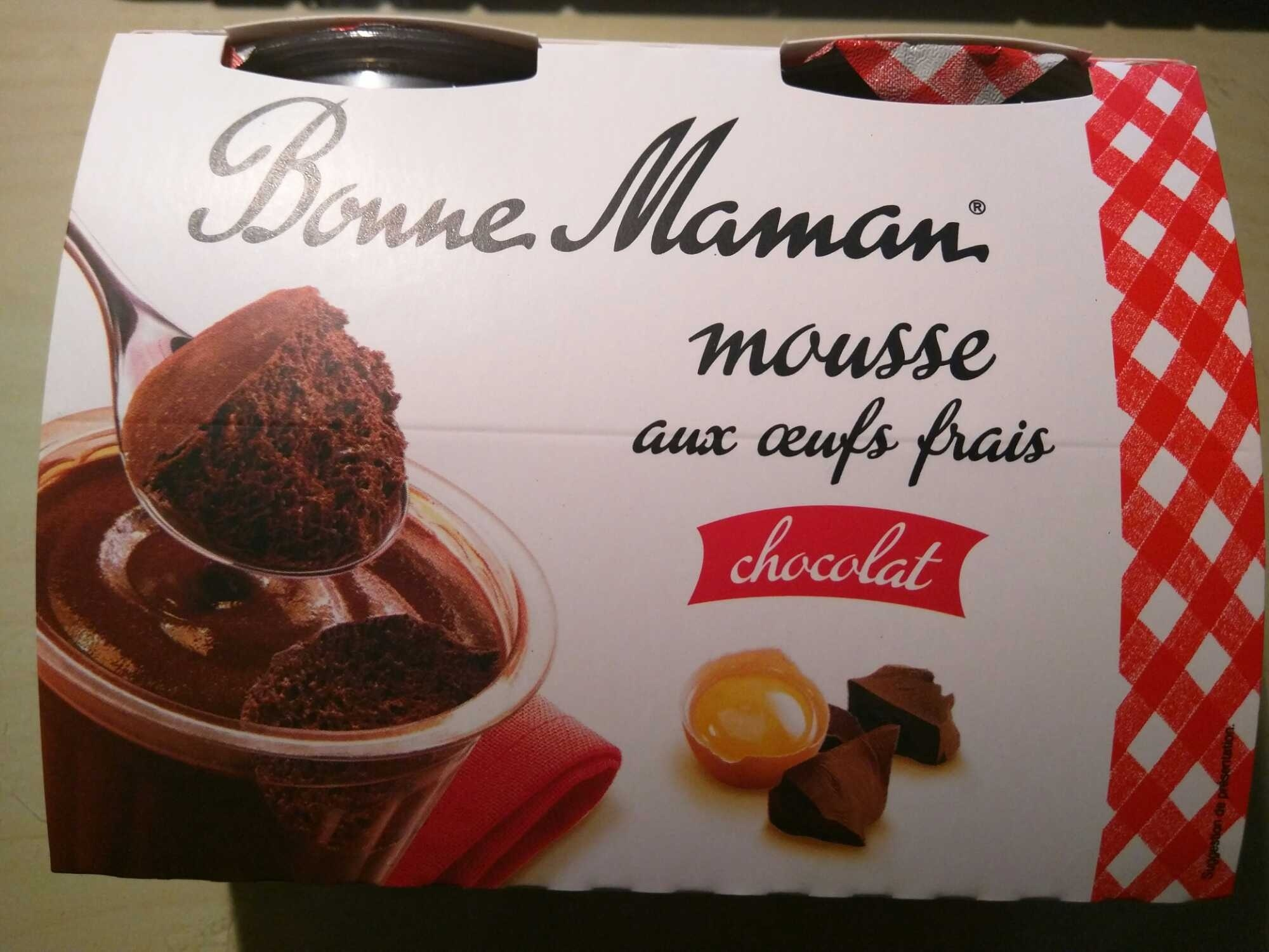 mousse aux oeufs frais chocolat bonne maman 200 g 4 x. Black Bedroom Furniture Sets. Home Design Ideas