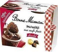 Bonne mamanMousse au chocolat aux œufs frais - Produit - fr