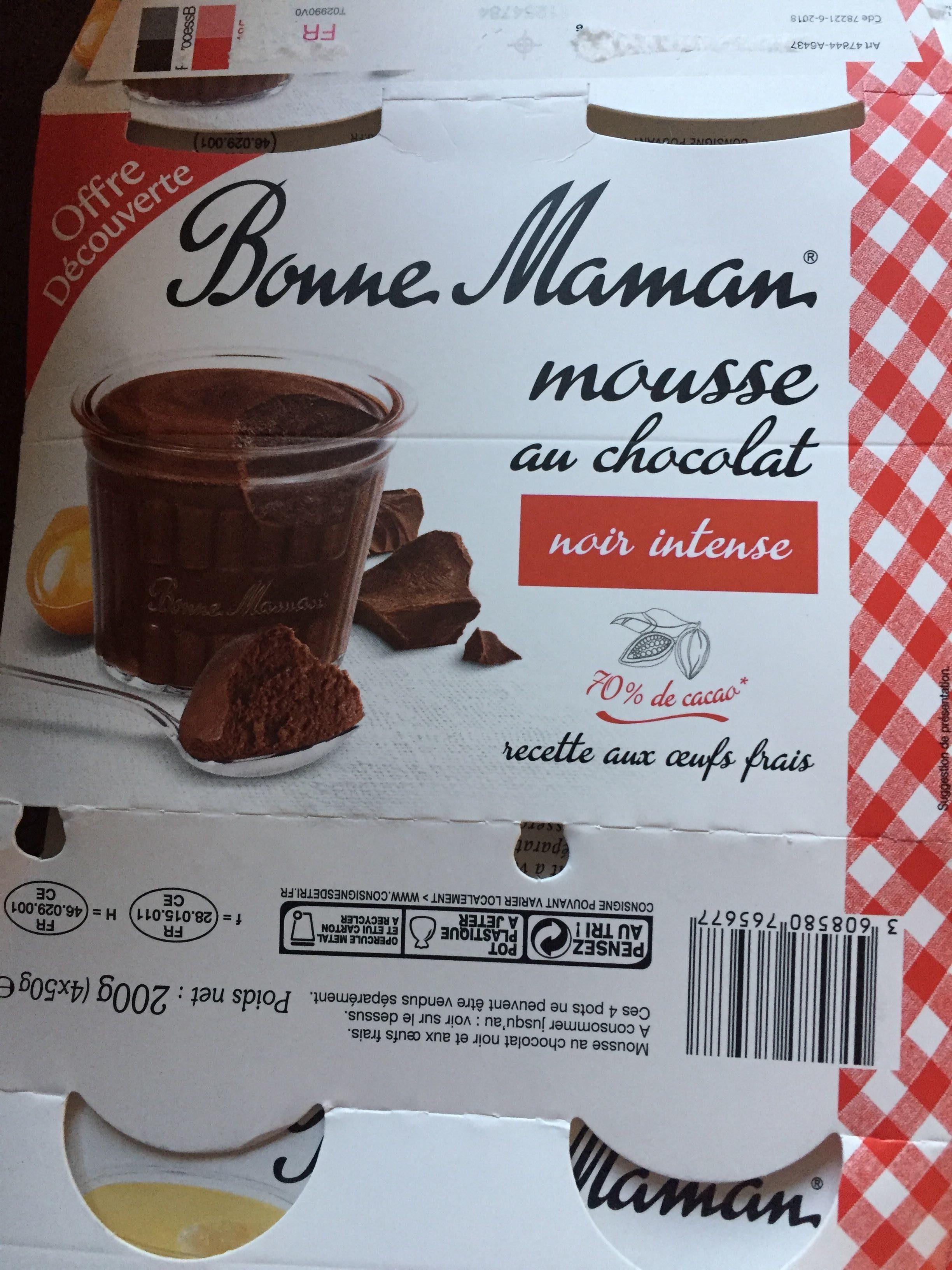 Mousse au chocolat aux œufs frais - Product
