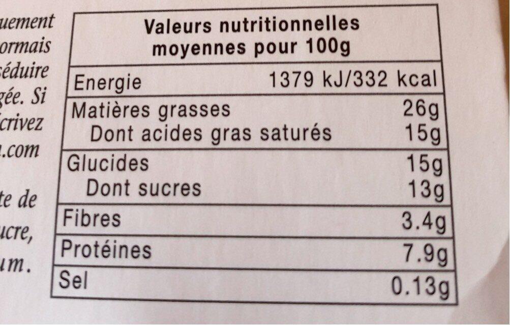 Bonne mamanMousse au chocolat aux œufs frais - Informations nutritionnelles - fr