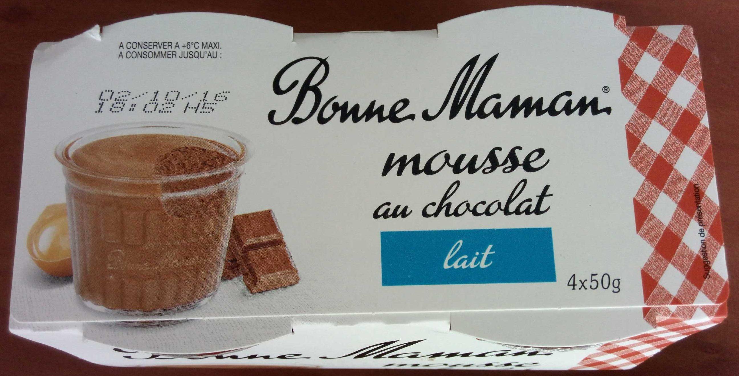 Mousse Au Chocolat Au Lait Bonne Maman 200 G 4 50 G