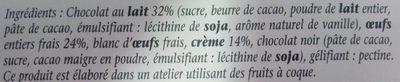Mousse au Chocolat au Lait - Ingrédients