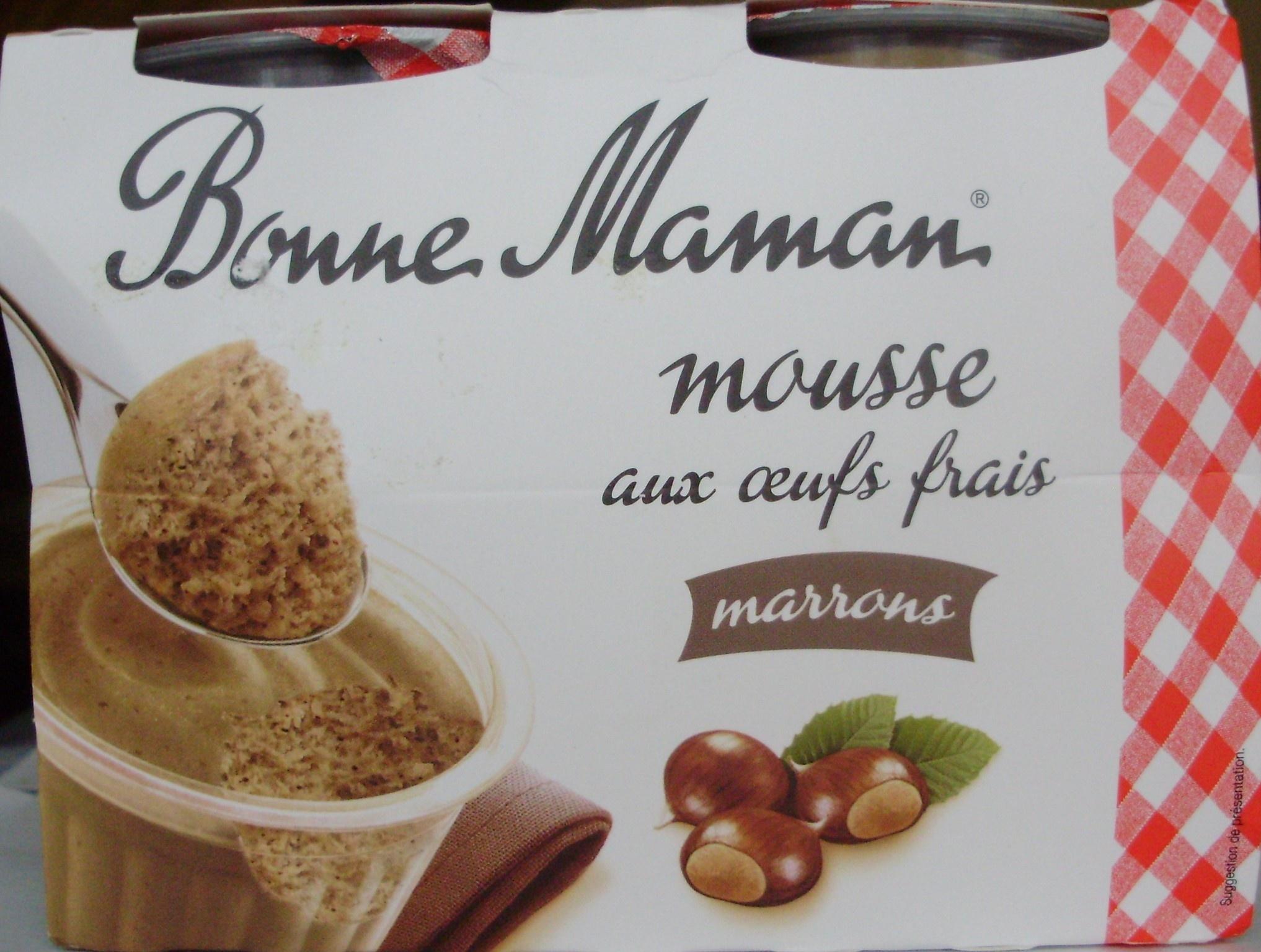 Mousse aux Œufs Frais Marrons - Produit - fr