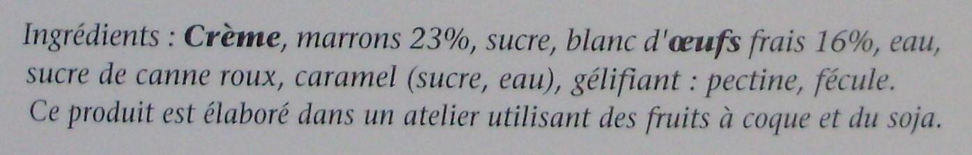Mousse aux Œufs Frais Marrons - Ingrédients - fr