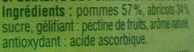 Compote Pomme Abricot - Ingrédients - fr