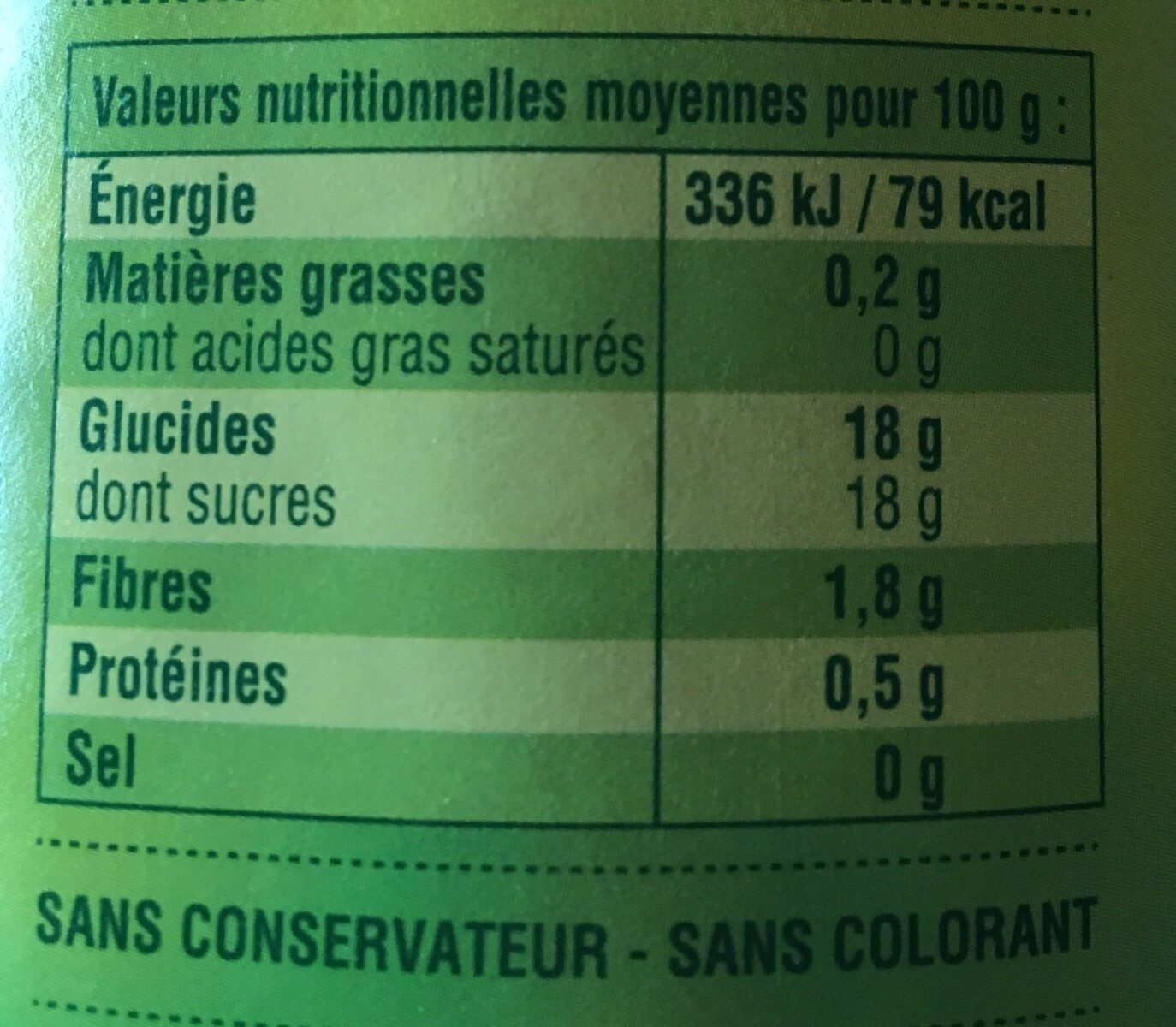 Compote Pomme Abricot - Informations nutritionnelles - fr