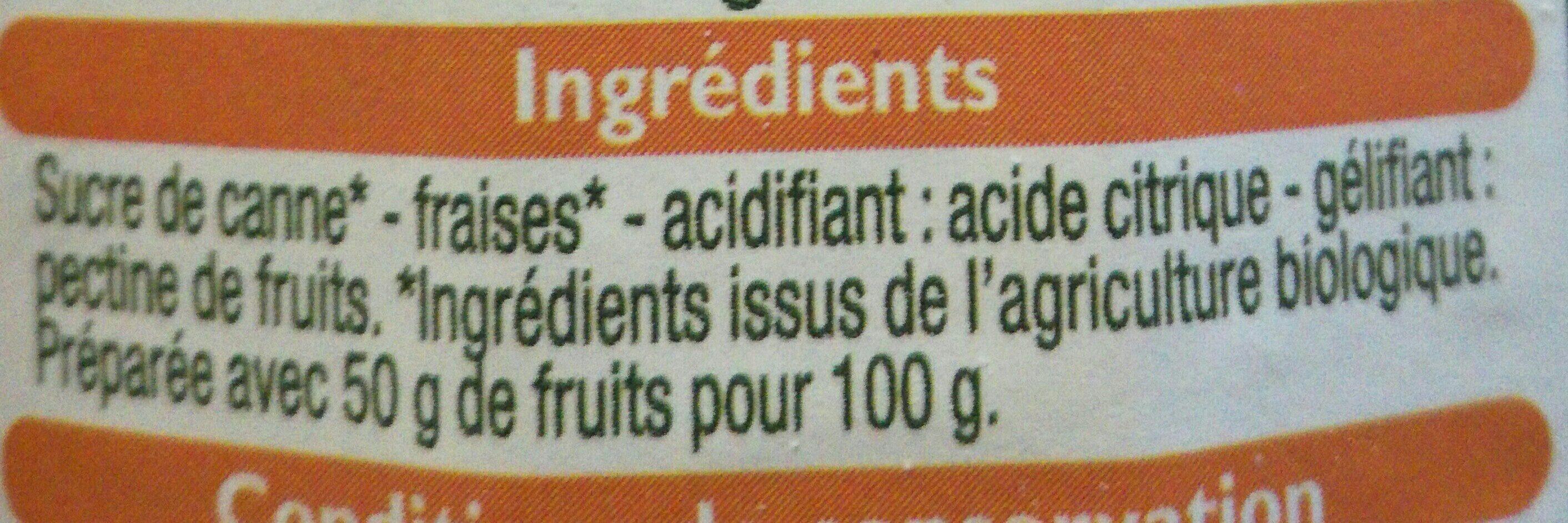 Confiture fraise - Ingredienti - fr