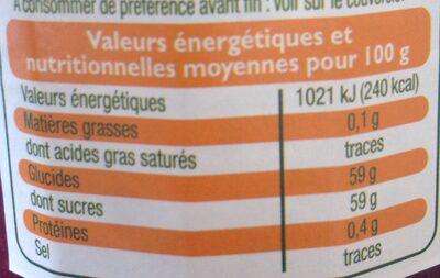 Confiture fraise - Informazioni nutrizionali - fr