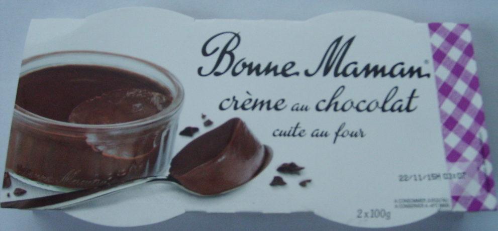 crème au chocolat cuite au four Bonne Maman - Produit - fr