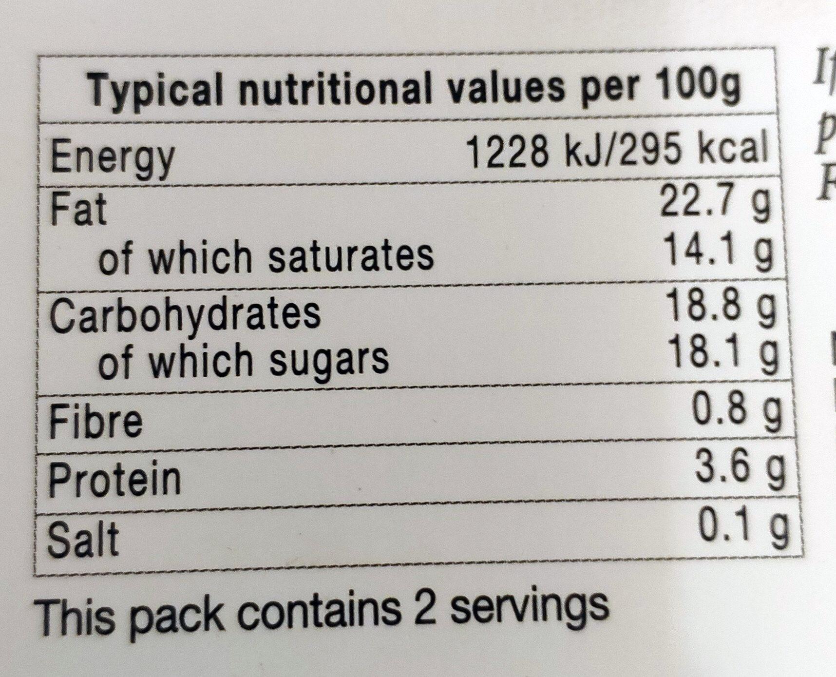 Chocolate mousse - Voedingswaarden - en