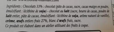 Mousse au chocolat - Ingredients - fr