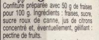 Confiture Fraises - Ingredienti - fr