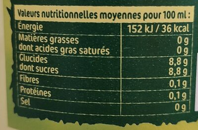 mojito sans alcool - Informations nutritionnelles - fr