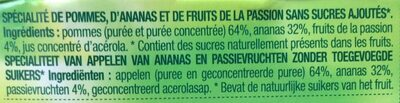 Pomme Ananas Passion - Ingredients