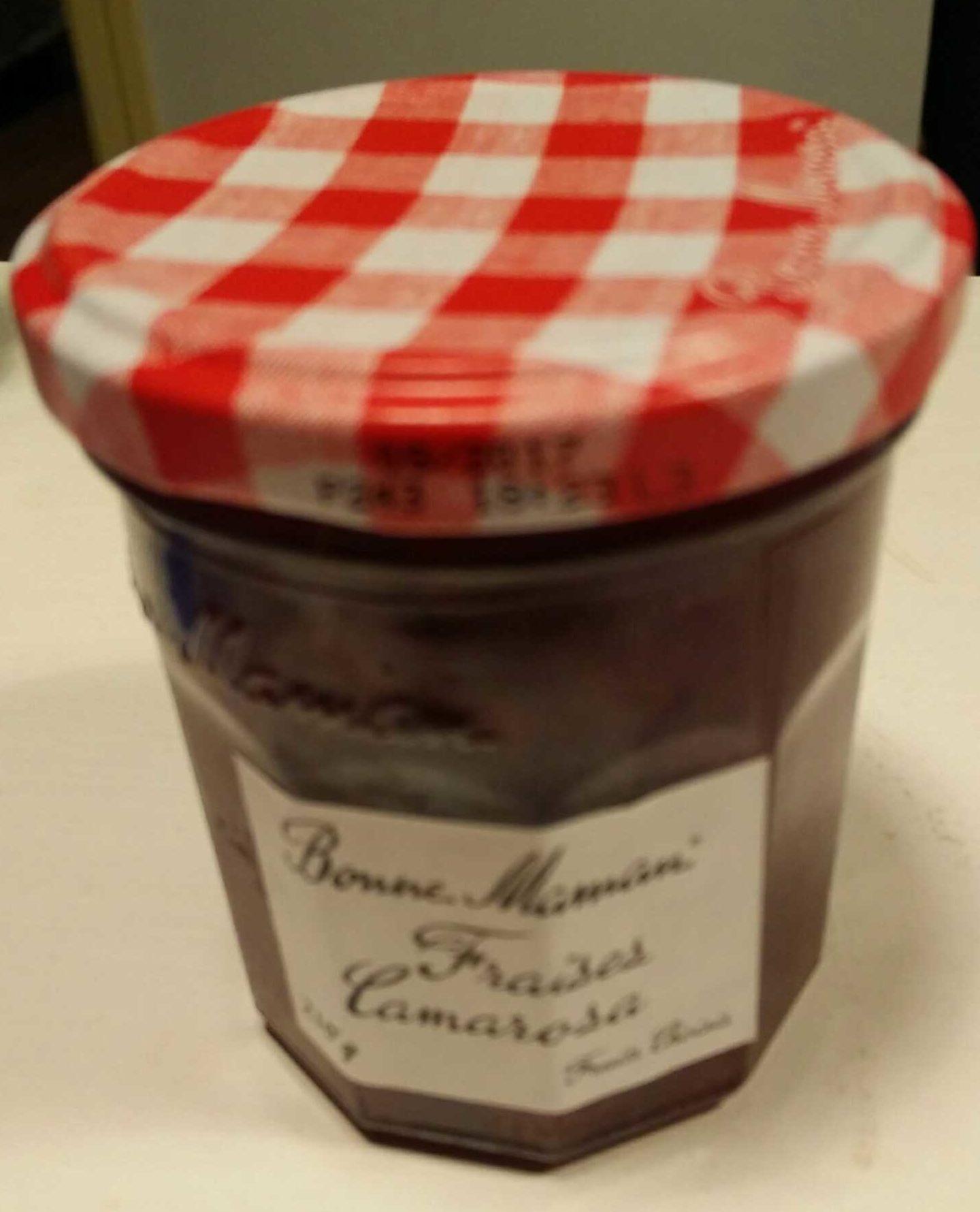 confiture fraises camarosa en petits morceaux bonne maman 210 g. Black Bedroom Furniture Sets. Home Design Ideas