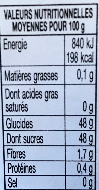 Mirabelles de Lorraine - Valori nutrizionali - fr