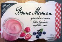 Yaourt crémeux fraise framboise myrtille cassis - Produit