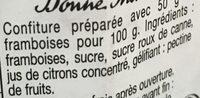 Confiture de Framboises - Ingredienti - fr