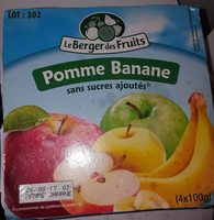 Compote pomme banane - Ingredients - fr