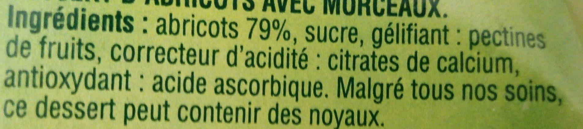 Abricot Morceaux Moelleux - Ingredients