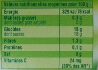 Dessert Fruitier - Pomme Citron - Nutrition facts