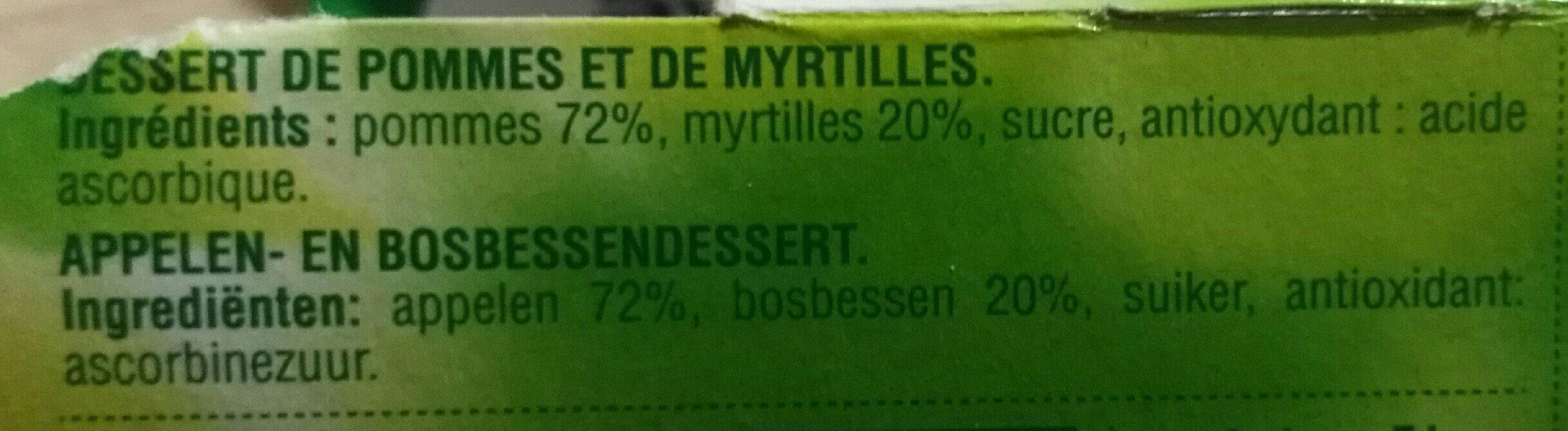 Pomme Myrtille - Ingredients