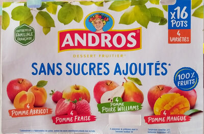 SSA Pomme/Abricot, Pomme/Fraise, Pomme/Poire Williams, Pomme/Mangue - Product - fr