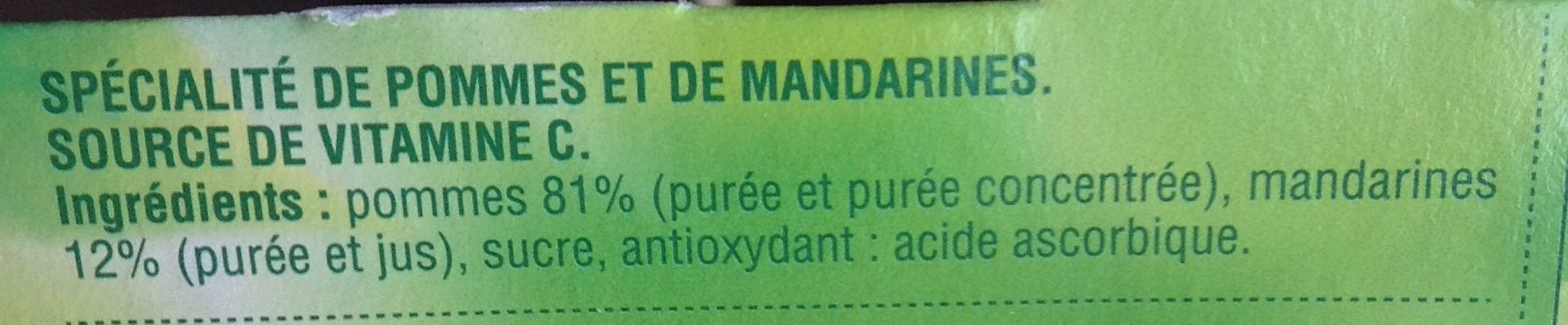Compote pomme mandarine - Ingredients