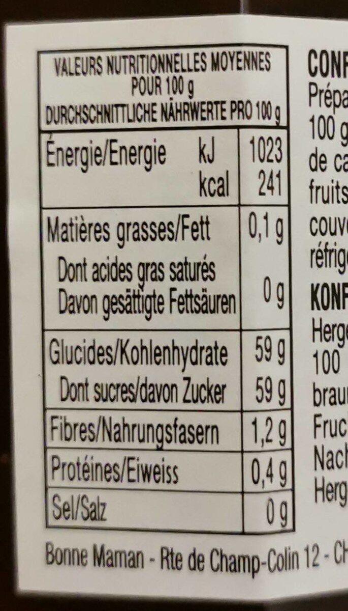 Confiture fraises et coings - Informazioni nutrizionali - fr